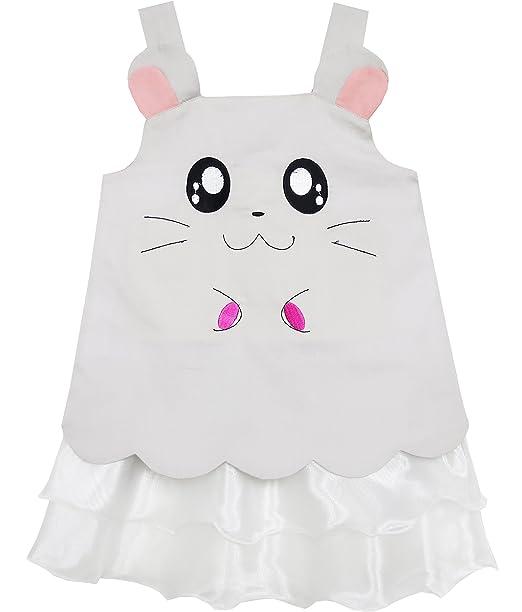 Vestido para niña Tanque Bordado Gato Patrón Color gris 3 años ...