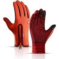 FQO Winter Warm Touch Screen Fishing Man Gloves Waterproof Women Ski Army Cycling Windproof Non-Slip Fashion Black…