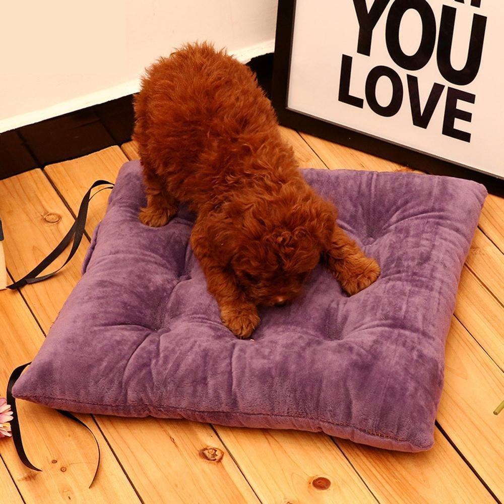 Daeou Cuscino per cane Coral velluto + pp cotone trapuntato mat pet comfort morbido, 40  40cm
