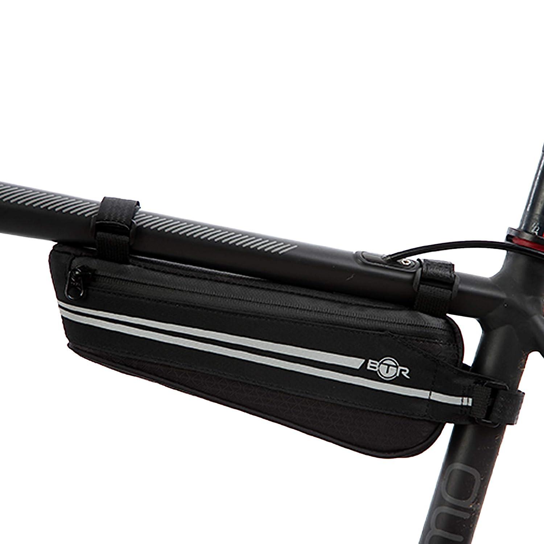 BTR Bolsa Triangular Ligera para Cuadro de Bicicleta con Cremalleras Impermeables y Reflectantes