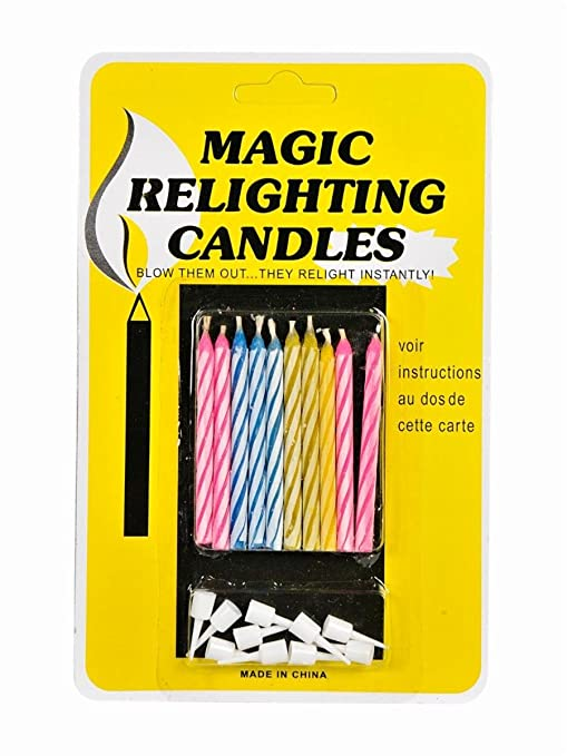Magic Relighting Birthday Candles Amazonin Toys Games