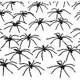 Pangda 160 Pack Halloween Spiders Black Plastic Spiders for Halloween Decorations, Halloween Party Favours