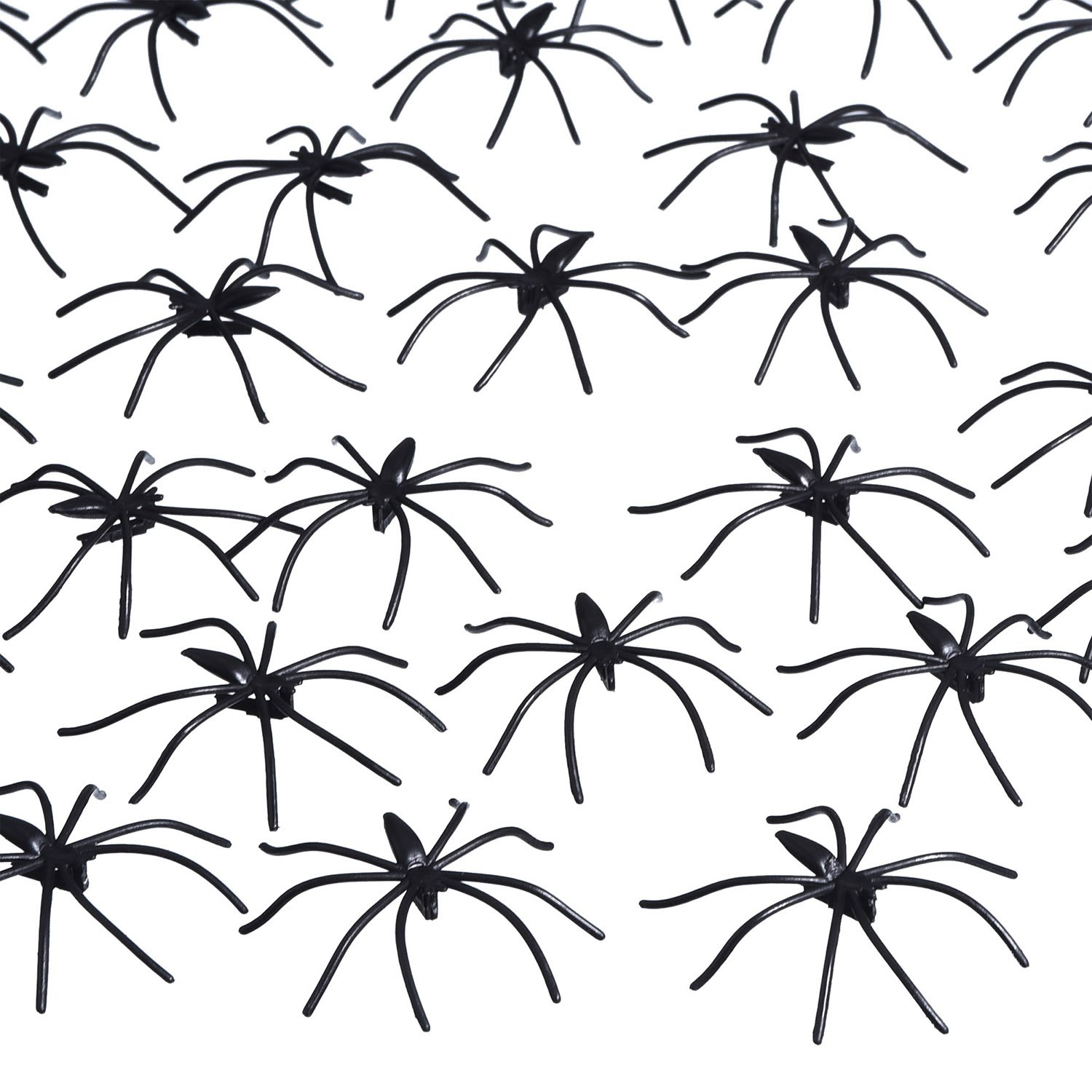 160 Pack Halloween Spiders Black Plastic Spiders for Halloween Decorations, Halloween Party Favours Pangda