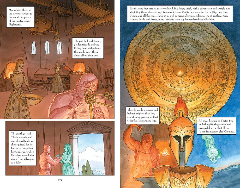 The Iliad written and illustrated by Gareth Hinds