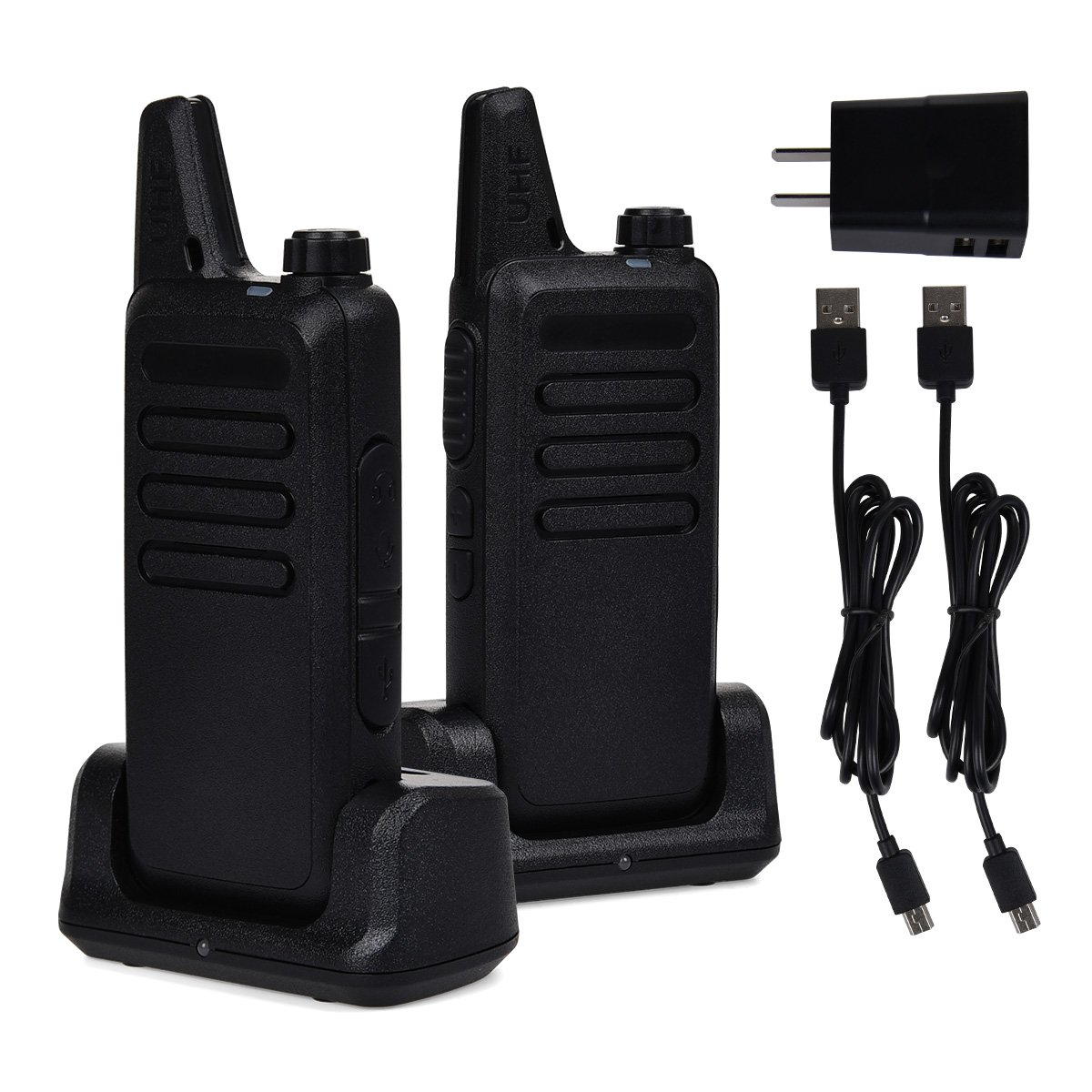 Swiftion Rechargeable Walkie Talkies for Hunting Long Range 2 Way Radio Walky Talky Rechargable Professional interphone for Trave for Police 16 Channel 2 Way Radios with Charger (Pack of 2) by Swiftion (Image #7)