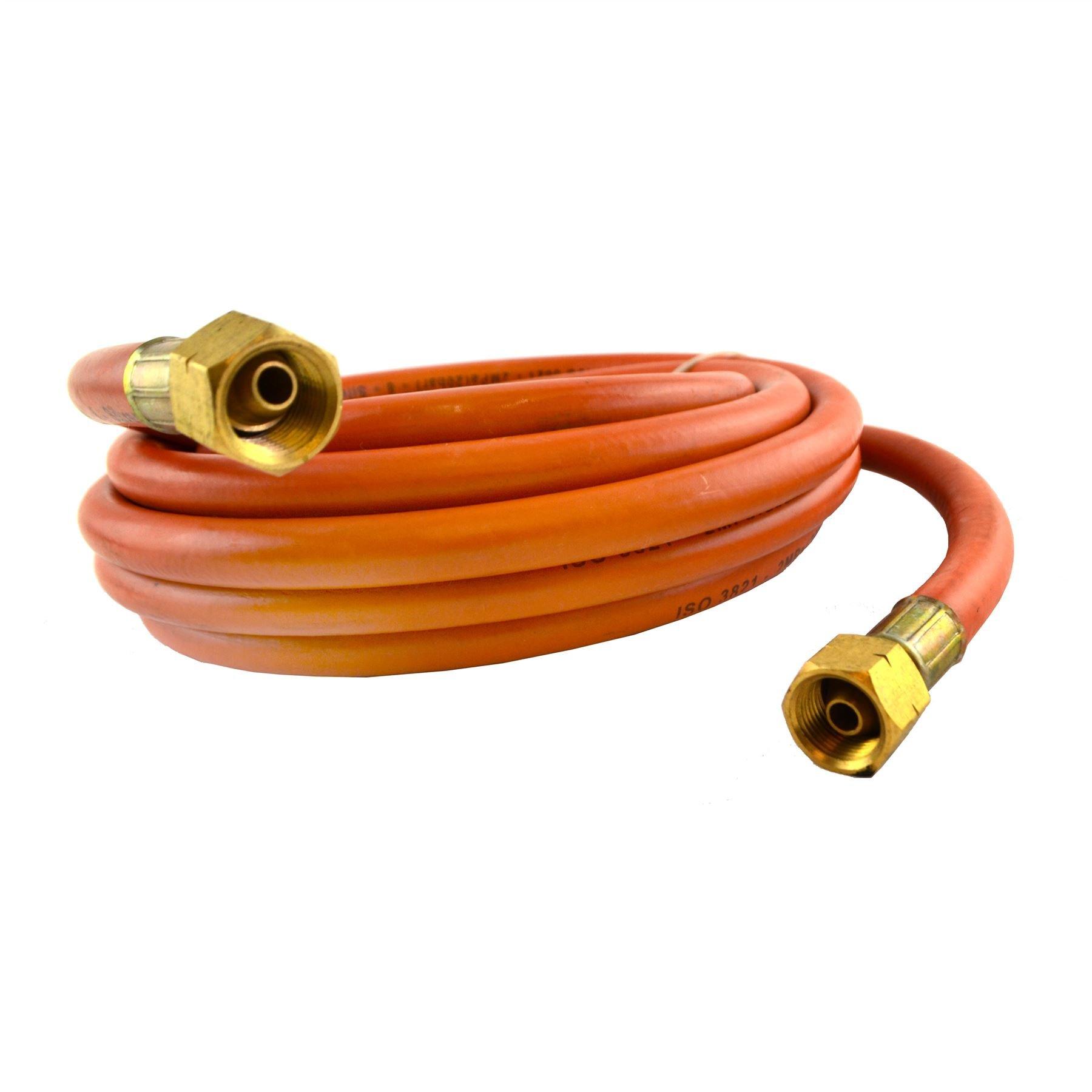 Gas Torch Burner 2m /& 5m Propane Hose Roofer Plumber Weed Regulator