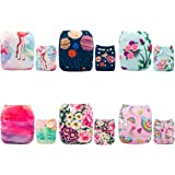 ALVABABY 6pcs Pack Pocket Washable Reusable Cloth Diaper with 2 Inserts Each 6DM20