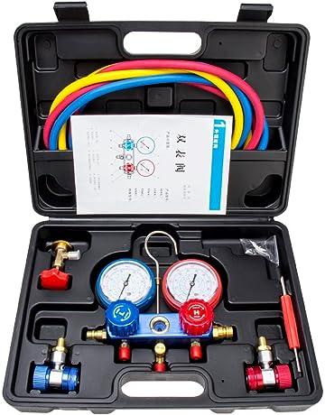 Manifold Gauge Set Diagnostic A/C Tool Kit R22 R134a R410a Refrigeration Brass Auto Service