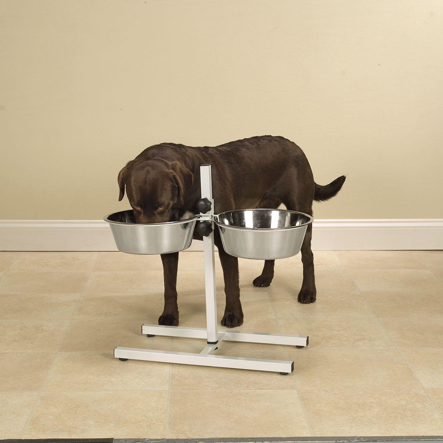 Pro Select Stainless Steel Adjustable Dog Diner Bowl with Two Pet Food Bowls by Pro Select (Image #3)