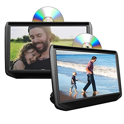 2020 11.6 Inch 1080P HD Digital Multimedia Monitor Super-Thin Car Headrest DVD Player, Headrest Monitors with HDMI Port and Remote Control USB and SD-C0319: Car Electronics