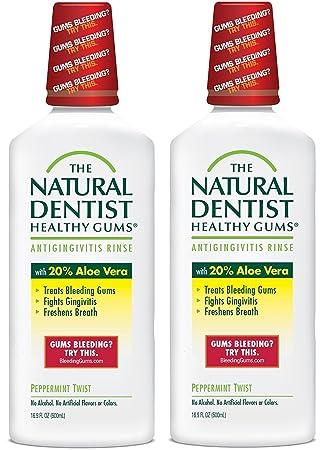 ae9652025d54 Natural Dentist Healthy Gums Antigingivitis Rinse, Peppermint, 16.89 Ounce