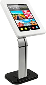 Mount-It! Secure Tablet Stand for iPad - Anti Theft iPad Kiosk - Retail iPad Mount - Security Tablet POS Stand - Locking Tablet Enclosure Stand for iPad 9.7 & Limited 10.1 Tablets (MI-3781)