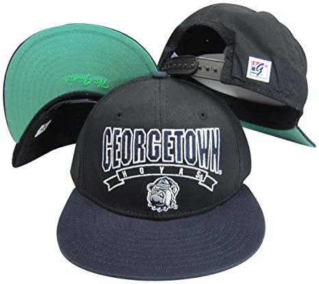 outlet store 97daa cf65f ... new zealand the game georgetown hoyas black navy snapback adjustable  plastic snap back hat cap a0603