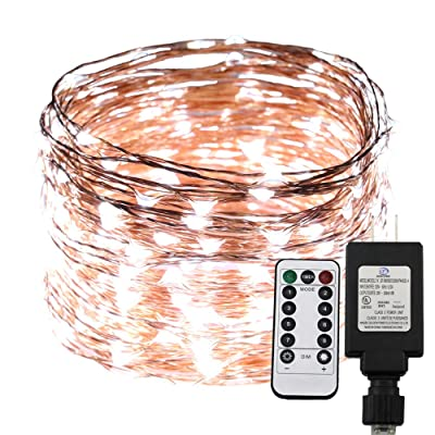 RUICHEN Dimable LED String Lights Plug in with Remote&Timer, 100Ft/30M 300 LEDs Copper Wire Fairy Starry String Lights, UL Listed, Ideal for Bedroom, Party, Wedding, Garden, Christmas(Cool White) : Garden & Outdoor