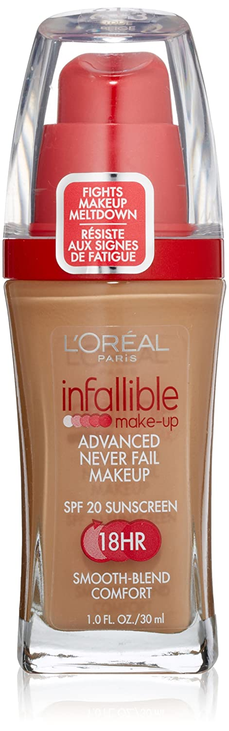 L'oreal Infallible Advanced Never Fail Makeup, Sun Beige, 1-Fluid Ounce