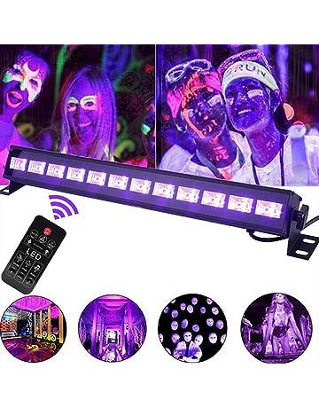 UV led bar luz negra, luces de discoteca 36W 12LED DMX512 Barra de luz UV