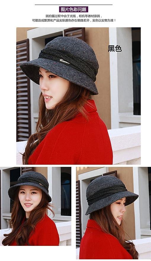 c451661da1c Amazon.com  SAIBANGZI A Female Fashion hat hat Four Basin Hat Beanie Hat  Cap 54-58cm Elderly Mother Painter Size (54-58cm Adjustable) Tianya Black   Home   ...