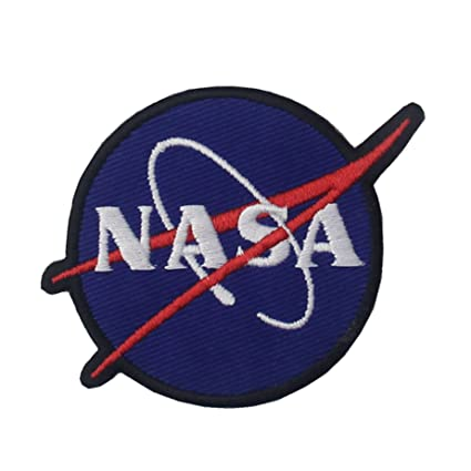 22824d62399d Embird Toppa ricamata con logo NASA da cucire o applicare con ferro da  stiro