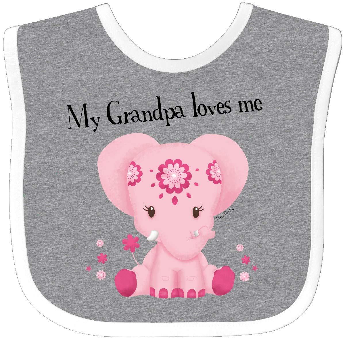 inktastic Grampy Loves Me Cute Elephant Long Sleeve Creeper