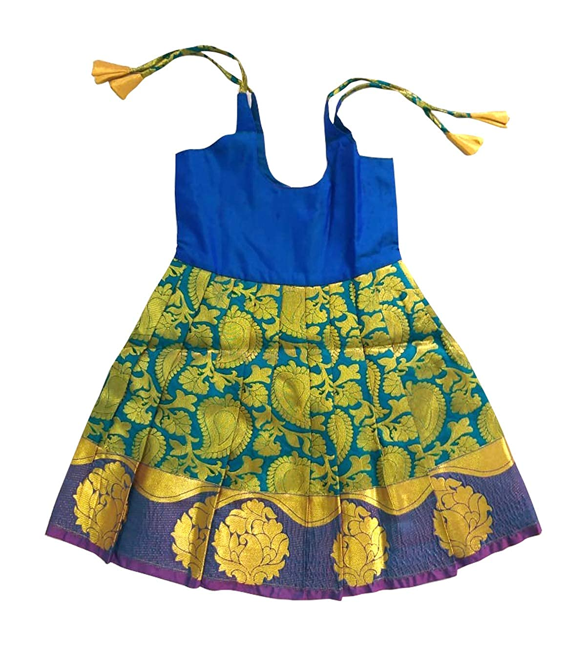 547399f3fd7a2 Pattu pavadai silk frock blue for baby girls kids year clothing accessories  jpg 1200x1320 One year