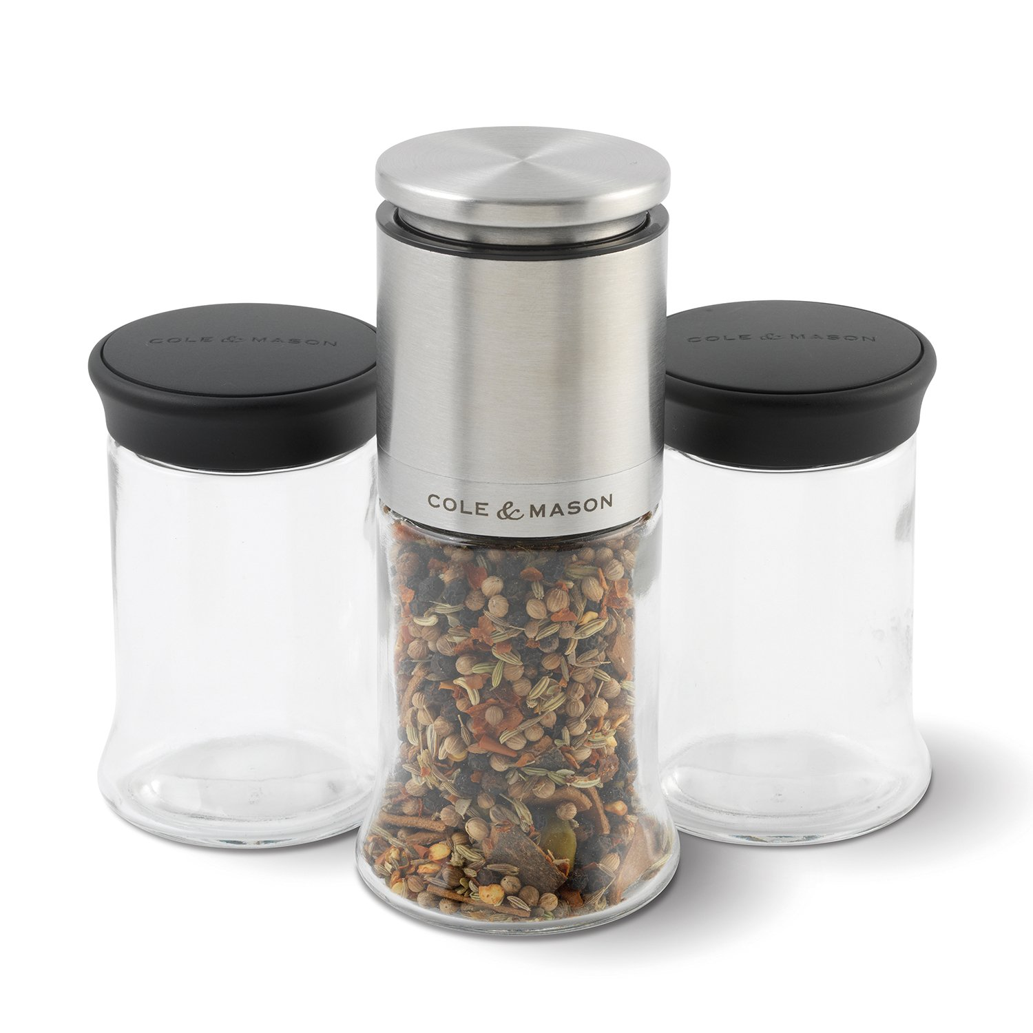 COLE & MASON Kingsley Herb and Spice Mill Gift Set, Clear by Cole & Mason