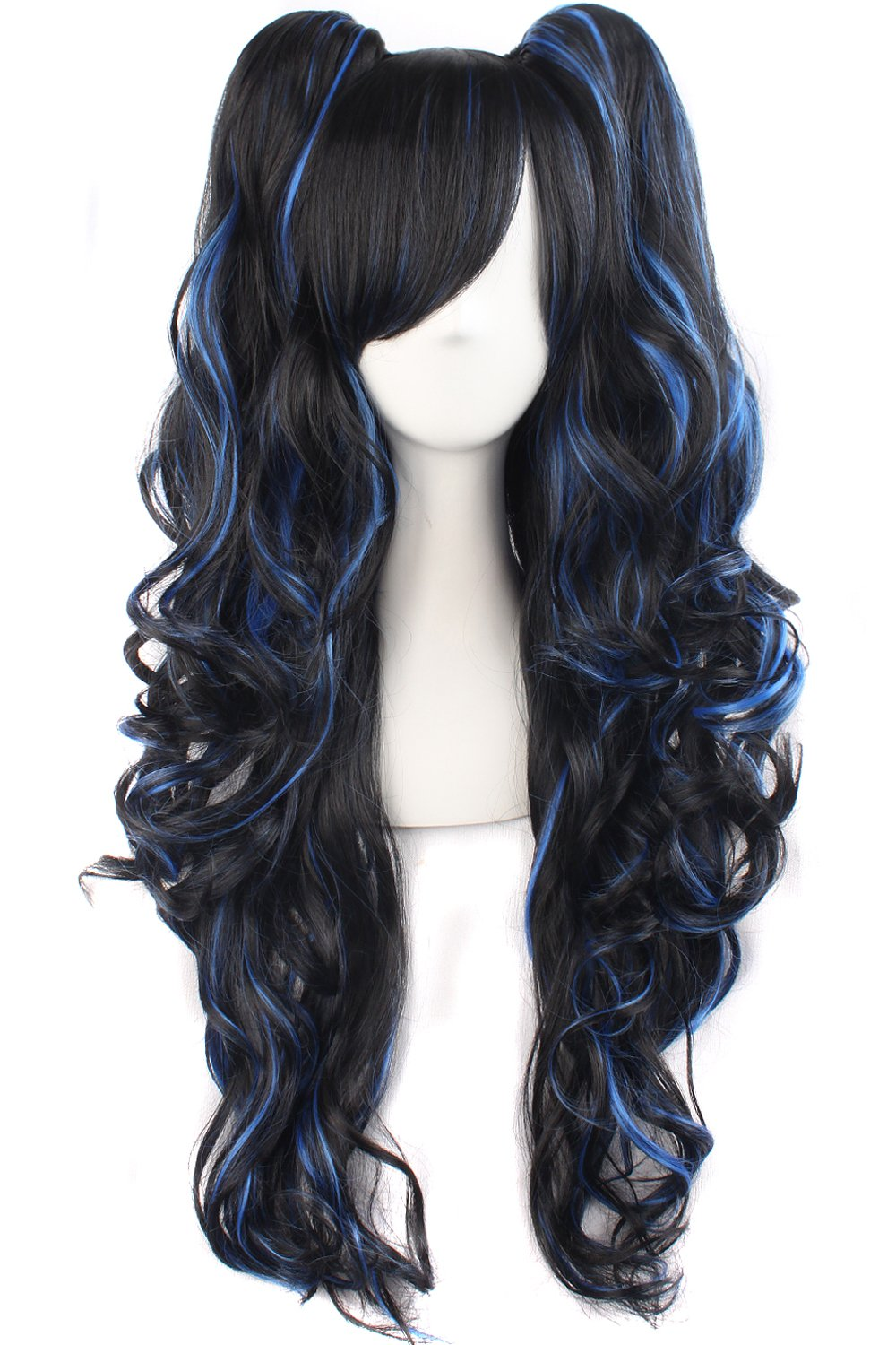 MapofBeauty Multi-color Lolita Long Curly Clip on ...