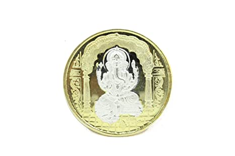 Religious 999 fine silver coin India God Lord Ganesha Om with box Gift