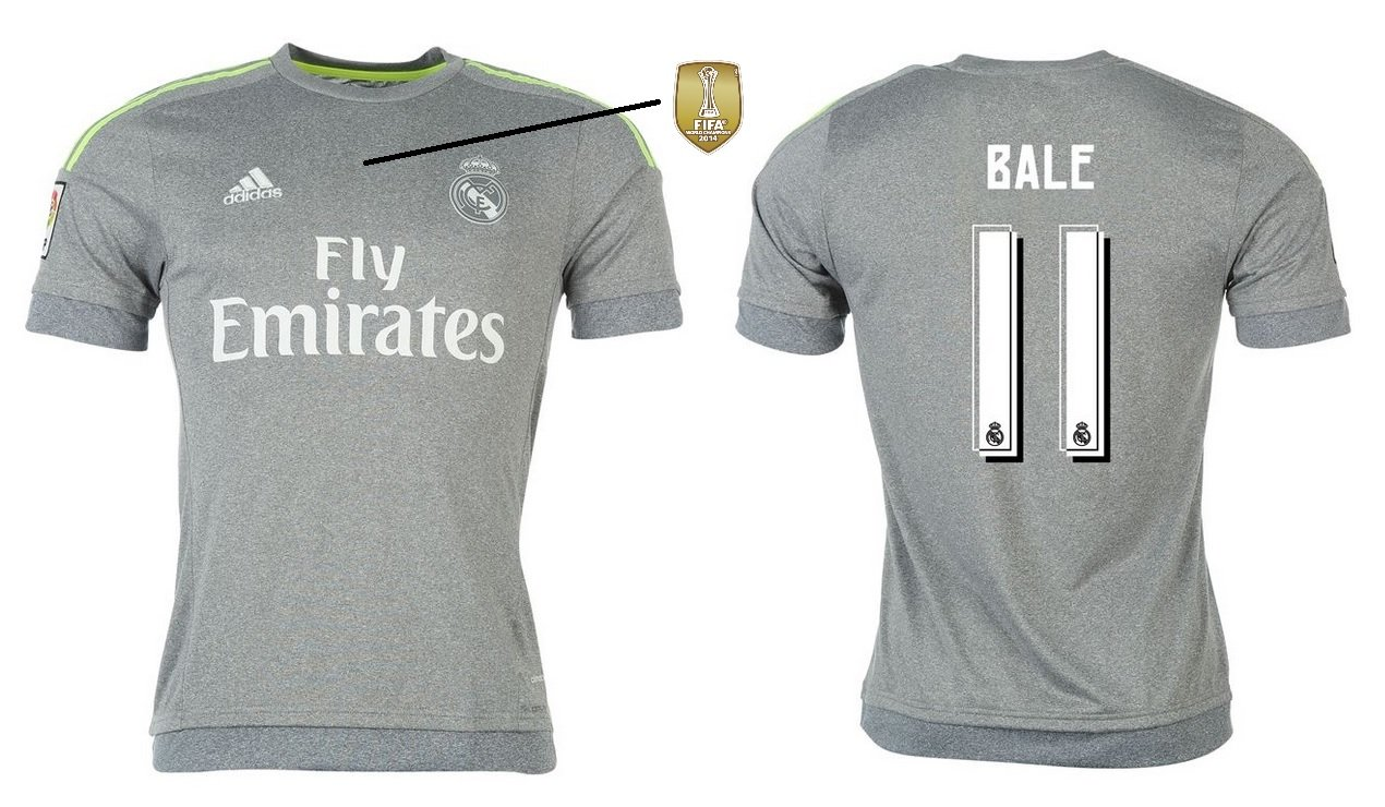 Trikot Kinder Real Madrid 2015-2016 Away WC - Bale 11