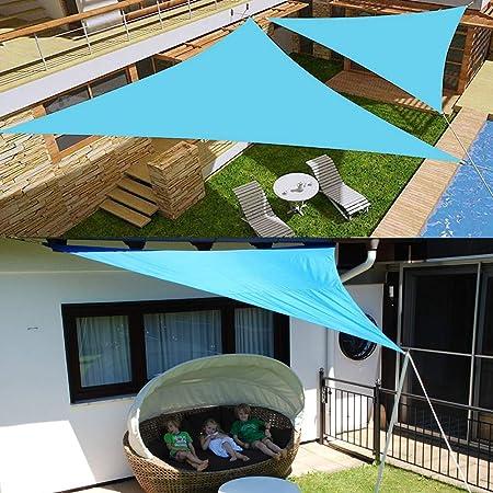 HS-Zak Miller Sun Sail Shade 8 Tamaños Regular Shade Triángulo De Vela De Poliéster Impermeable Toldo del Cielo Azul Al Aire Libre Sun Refugio Jardín Cobertizo Camping Canopy,3.6 * 3.6 * 3.6