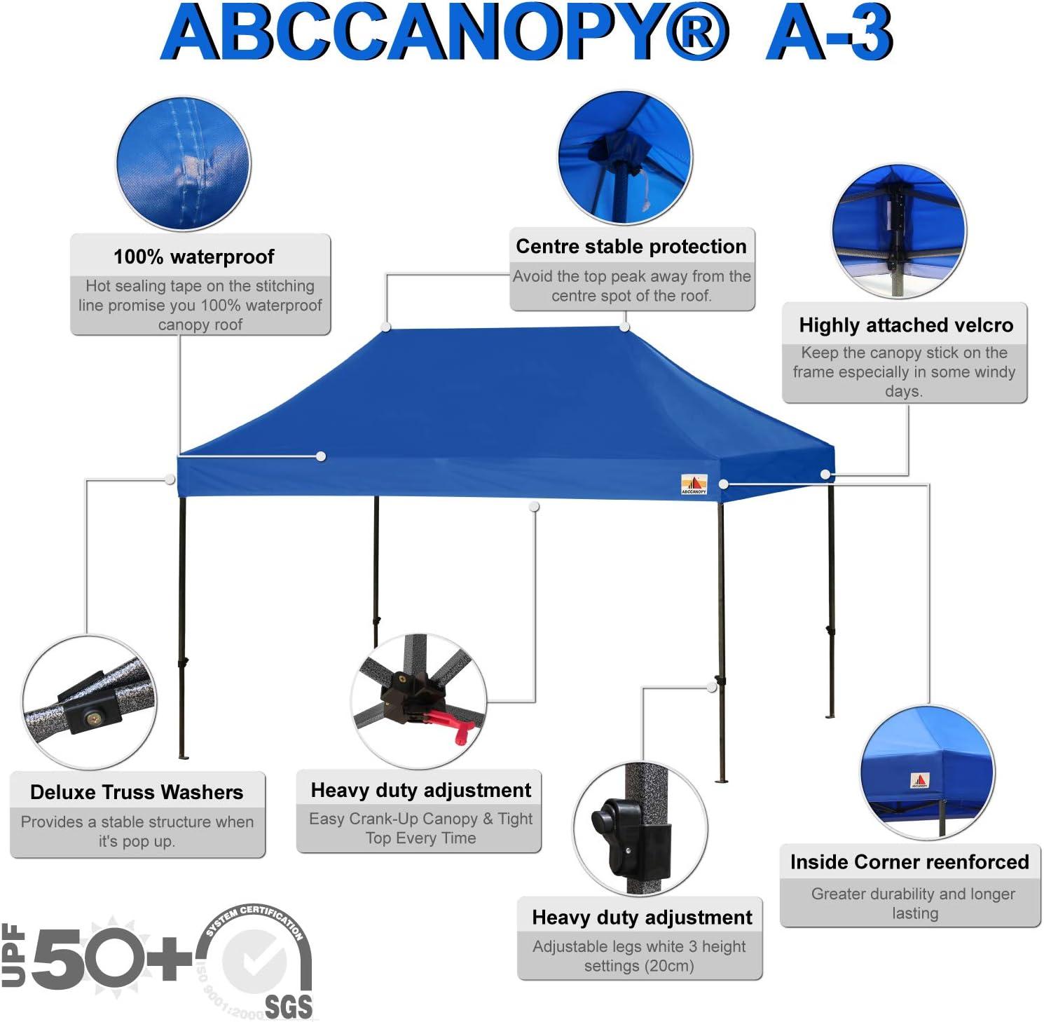 ABCCANOPY - Cenador Plegable para Patio (3 x 4, 5 cm, Totalmente ...