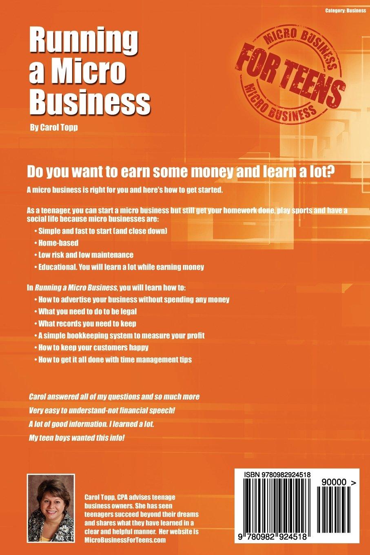 Running a Micro Business: Carol Topp: 9780982924518: Amazon.com: Books