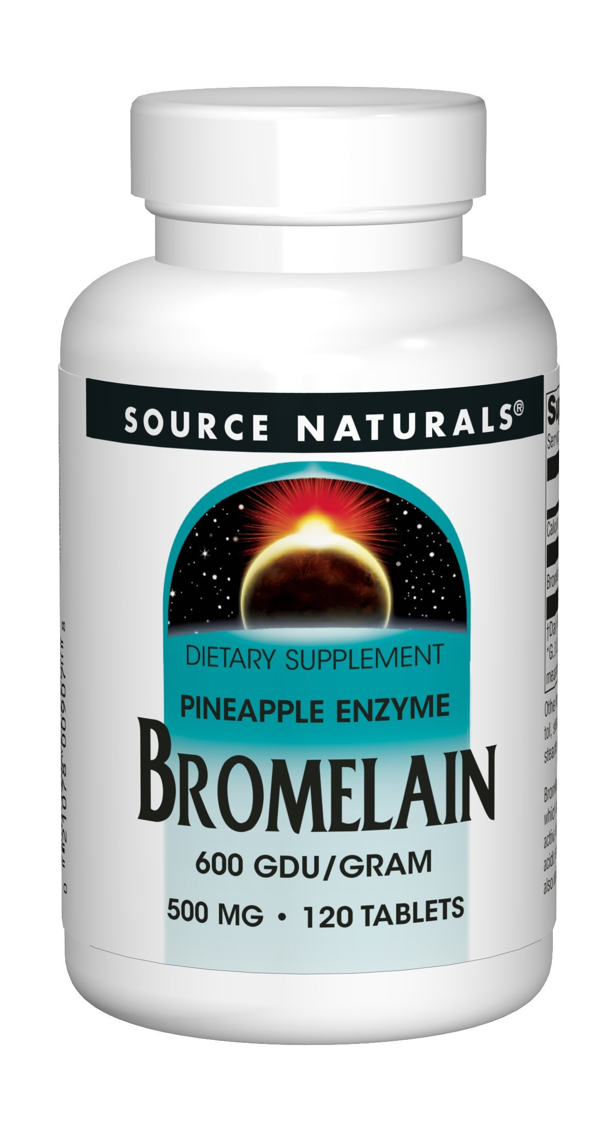 Source Naturals Bromelain 500mg Proteolytic Enzyme Supplement - 120 Tablets (Pack of 2)