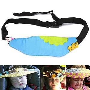 URAQT 2PCS Baby Kids Safety Head Support / Hugger, Car Seat Sleep/Nap/Aid Holder Belt, Neck Protection Belt