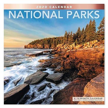 National Month Calendar 2020 Amazon.: 2020 National Parks Wall Calendar (LME3081020