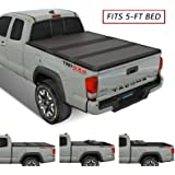 Kikito Professional FRP Hard Tri-Fold Truck Bed Tonneau Cover for 2016-2020 Toyota Tacoma 5ft (59.8in-60.5in) Bed
