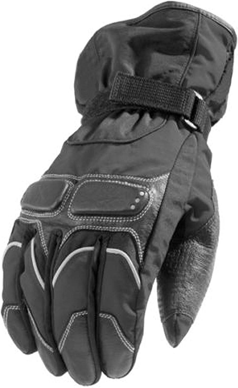 Newfacelook Winter Summer Mens Womens Leather Motorcycle Motorbike Waterproof Gloves