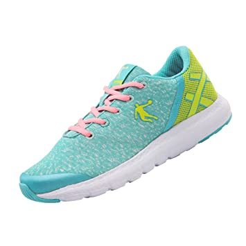 Qiaodan Xm1661801 Up Girls Lace Casual Athletic Shoes Bluegreen WeH29IEDY