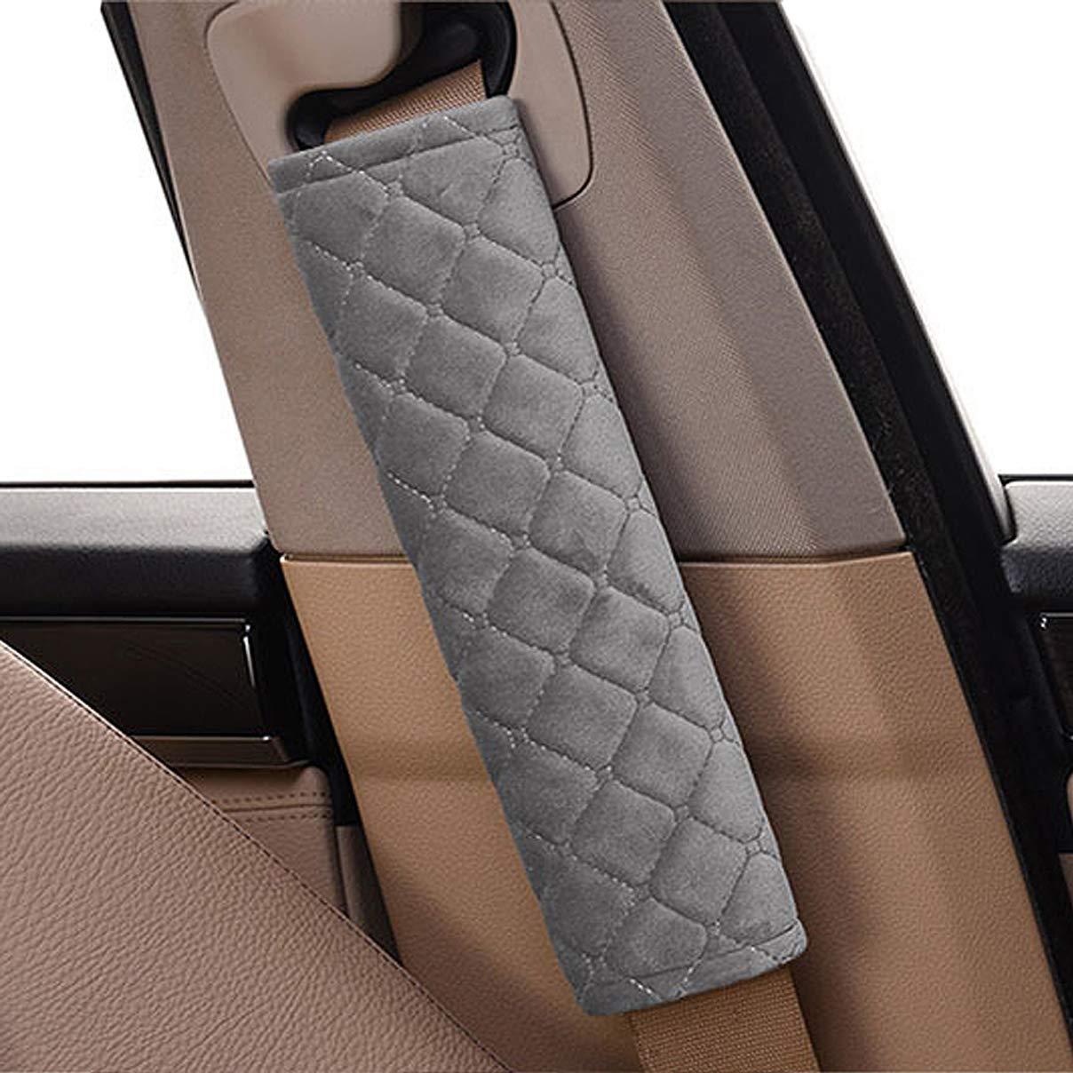 Grey extra/íble y lavable ideal para cintur/ón de seguridad mochila, 1 par de Coj/ín para cintur/ón de seguridad