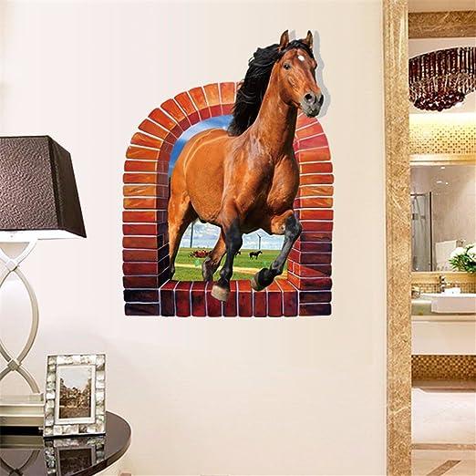 Alldolwege Modernes Minimalistisches Pferd 3d Wall Sticker