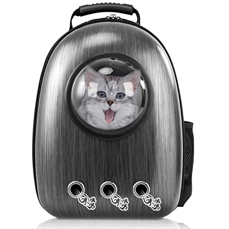 16c0baca9745 Giantex Astronaut Pet Cat Dog Puppy Carrier Travel Bag Space Capsule  Backpack Breathable (Black)