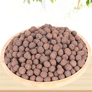 FondPets Expanded Clay Pebbles Hydroponic Gardening Leca Clay Grow Media for Orchids,Aquaponics, Aquarium Fish Tank Substrate,8-14mm (4L(2.75LBS))