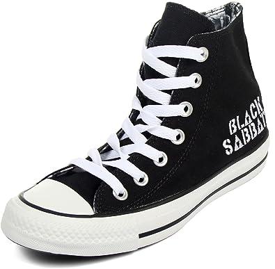 Scarpe Converse All Star Chucks UK 11 UE 45 BLACK SABBATH NEVER SAY I NUOVO