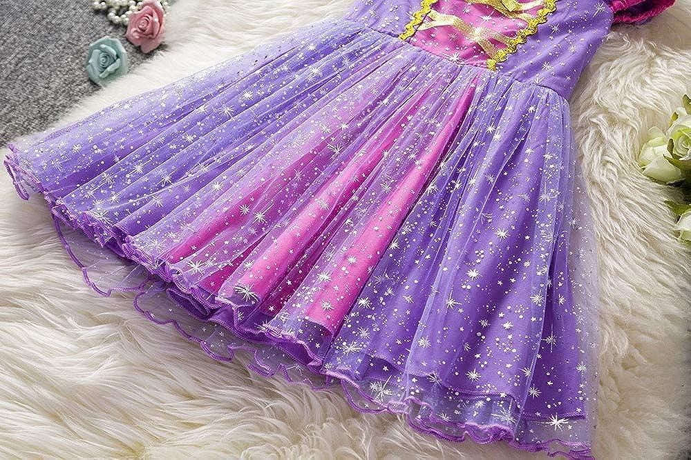 LISTHA Tutu Dress Children Kid Girls Star Princess Net Yarn Performance Clothes