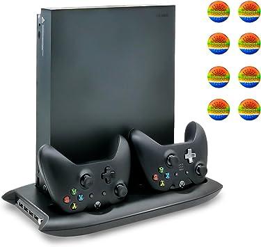 Xbox One X Soporte Vertical con Ventilador de Enfriamiento, Estación de Carga para Mando Xbox One con 4 Hub USB para Microsoft Xbox One X Consola: Amazon.es: Electrónica