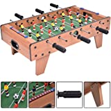 COSTWAY 27'' Football Table Top, Foosball Soccer Game Toy Set with Wooden Frame for Kids, Family and Party (27'' Football Table Top)