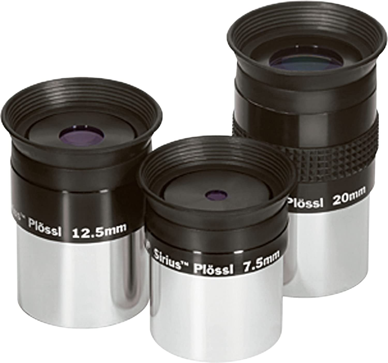 7.5mm 12.5mm 20mm Set Sirius Plossl Eyepieces Orion