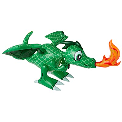 Inflatable 30-Inch Dragon - Colors may vary (Red or Green): Toys & Games