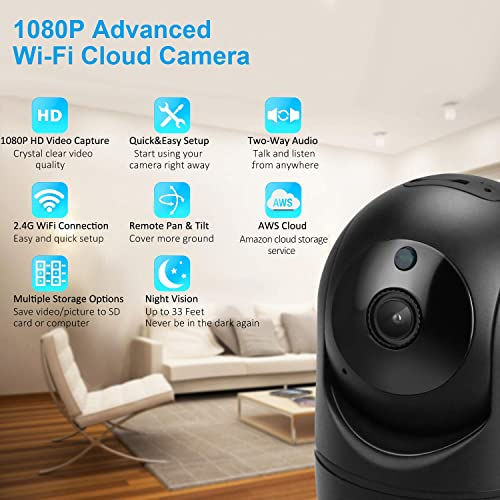 USKEYVISION WiFi Home Security Camera,1080P WiFi Indoor Camera