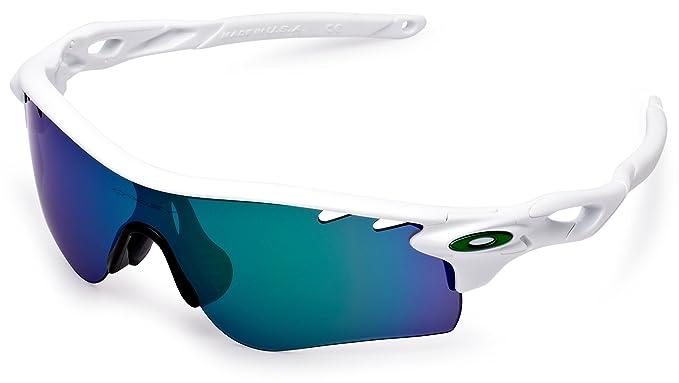 Oakley Lunettes Blanc Sport Jade Iridium Radarlock De Soleil Poli YvIf76gyb