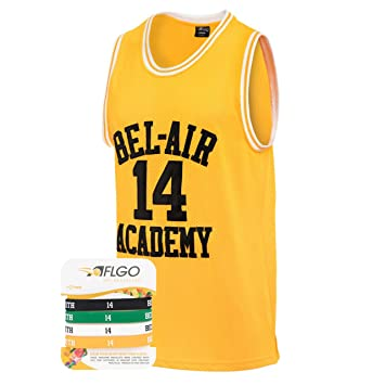 4fa5599d4ac9 The Fresh Prince Of Bel Air Academy Jersey Will Smith Include Free  Wristbands (YELLOW